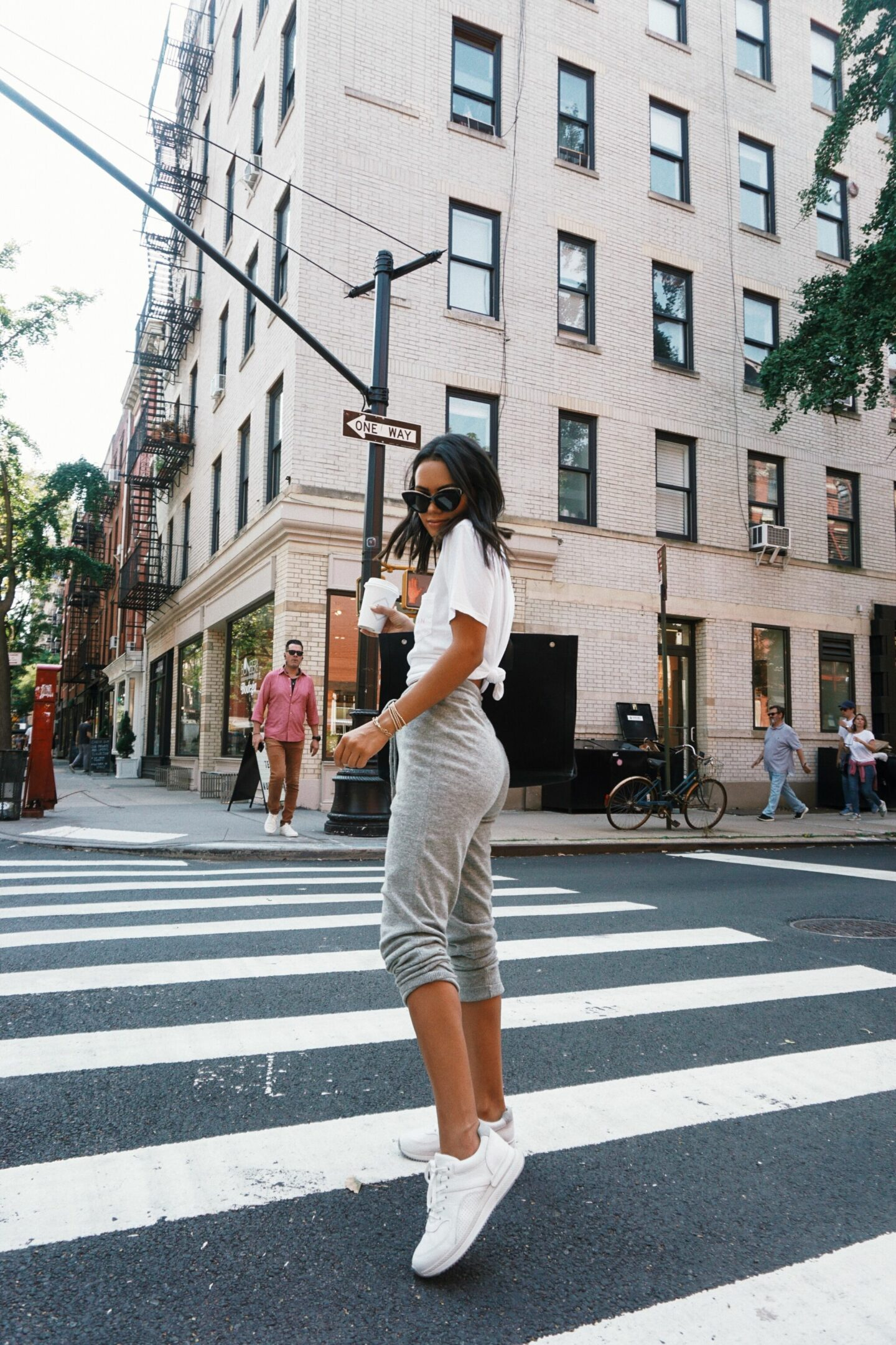 running around nyc in my evelane tread sneakers